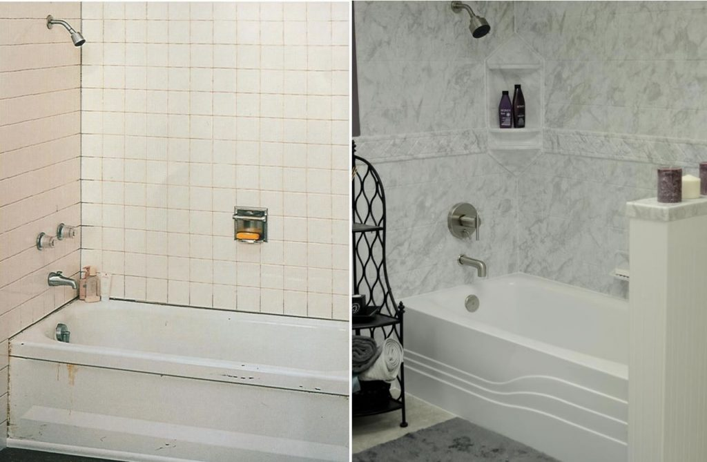 Yankee Home Improvement Bathroom before and after
