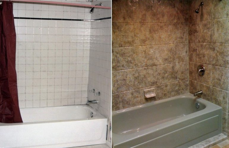 Yankee Home Improvement Tub & Shower Before and After