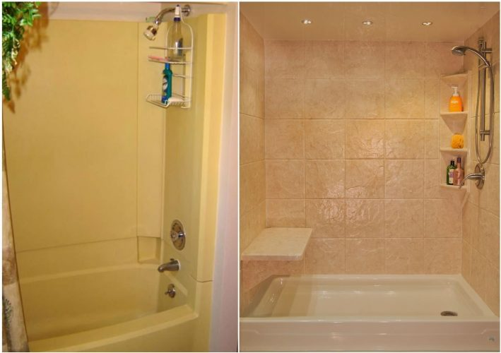 Yankee Home Improvement Tub & Shower Before And After Bath