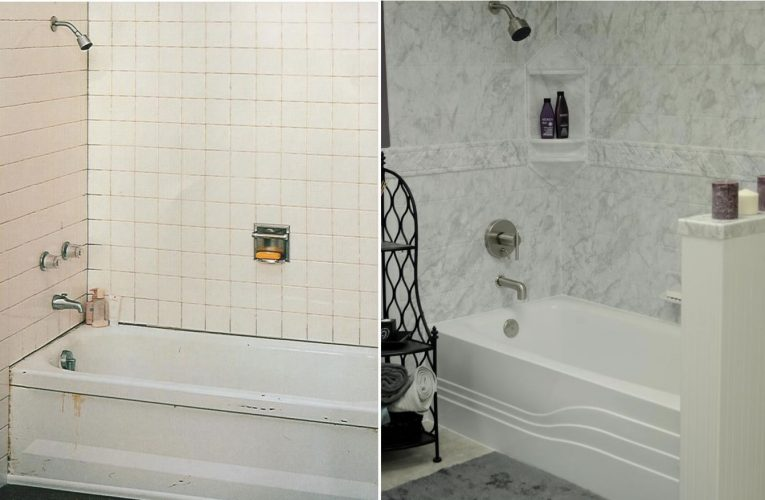 Yankee Home Improvement Bathroom Tub & Shower before and after